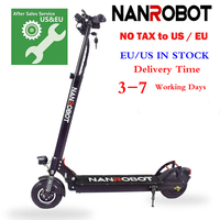 NANROBOT X4 8 Simple Folding 500W 48V 10.4A 20Mph 25 Miles kick e Adult 2 Wheel Electric Scooter