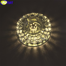 FUMAT Crystal K9 Ceiling Lamps Walk Way Lights Modern LED Color Aisle Luminaria Light Hall Lighting Deco Fixture For Living Room(China)