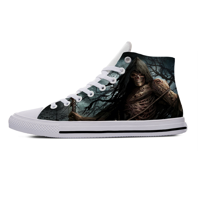 SKULL PUNISHER THEMED HIGH TOP SHOES (5 VARIAN)