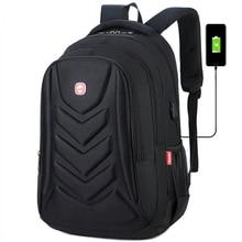 Mens USB Charge Waterproof Laptop Backpacks Large Capacity Male Leisure Travel Bags Student School Bookbag Computer New 2020 Big