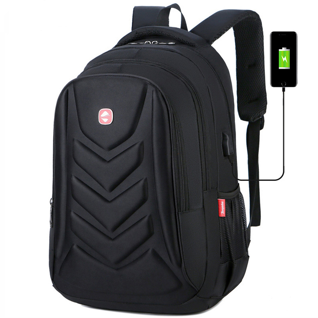 Mens USB Charge Waterproof Laptop Backpacks Large Capacity Male Leisure Travel Bags Student School Bookbag Computer New 2020 Big