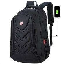 Zaini per Laptop impermeabili con ricarica USB da uomo borse da viaggio per il tempo libero per uomo di grande capacità Computer per scuola per studenti nuovo 2020 grande