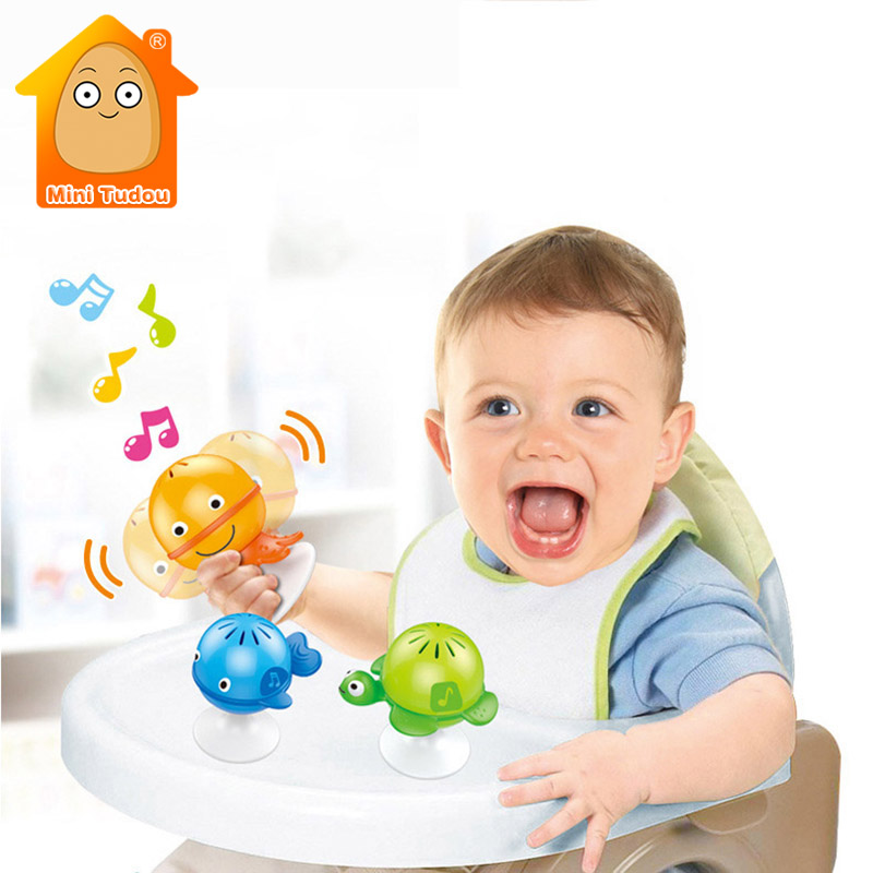 Baby Sea Animal Rattles Toy Infant Colorful Plastic Cartoon Music Hand Bell Set Early Intelligence Educational Toys For Children