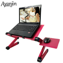 48*26 CM Portable Foldable Adjustable Laptop Table For Bed Sofa folding Table Lap Desk Computer Mesa Para Laptop Stand With Fan
