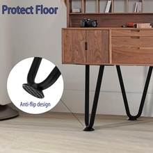 8 Inch Hairpin Legs (4Pcs), Metal Furniture Legs, Modern Furniture Legs, Coffee Table Legs, 4 Washers and20 Screws