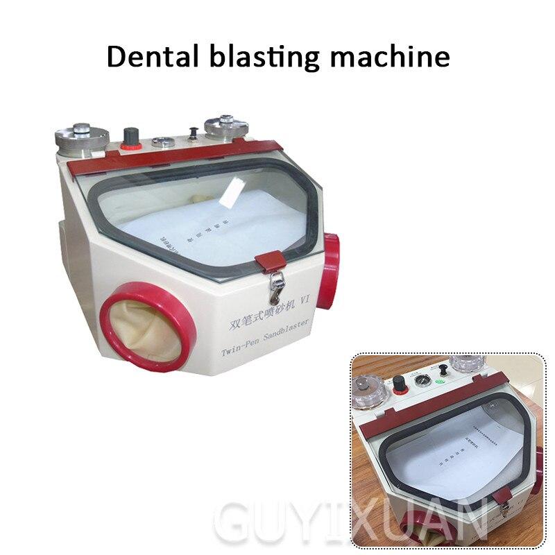 Équipement spécial de machine de sablage de porcelaine de machine de sablage de Double stylo pour le traitement de clinique dentaire