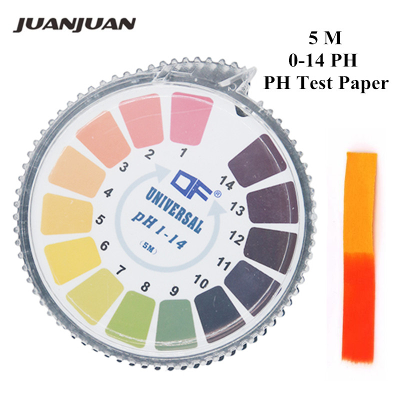 Universal 1-14 Alkaline Acid PH Test Paper Strips Roll Water Litmus Testing PH Test Strips For Aquarium 48% Off