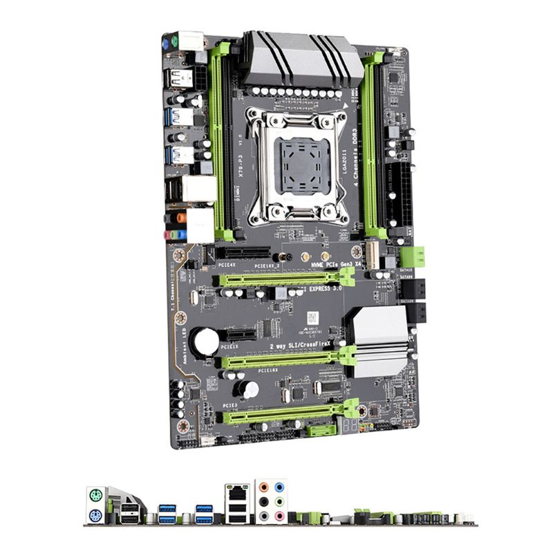 <font><b>X79</b></font>-P3 QUAD Channel Deluxe <font><b>X79</b></font> motherboard ATX USB3.0 SATA3.0 LGA <font><b>2011</b></font> Gaming motherboard Support mainboard 128GB DDR3 REG ECC image