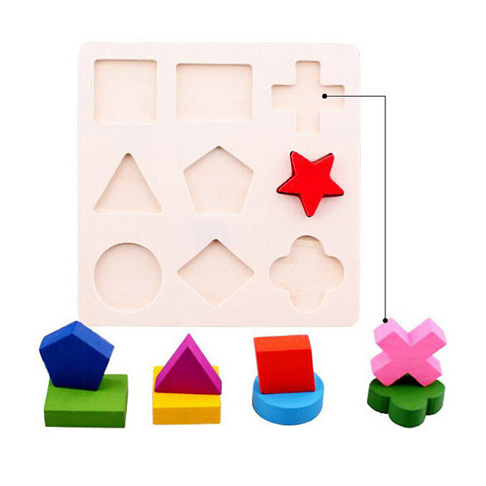 Baby Souptoys Wooden Geometry Building Puzzle Toys Early Learning Educational Toy Toys For Children Puzzle Toys For Kids Baby