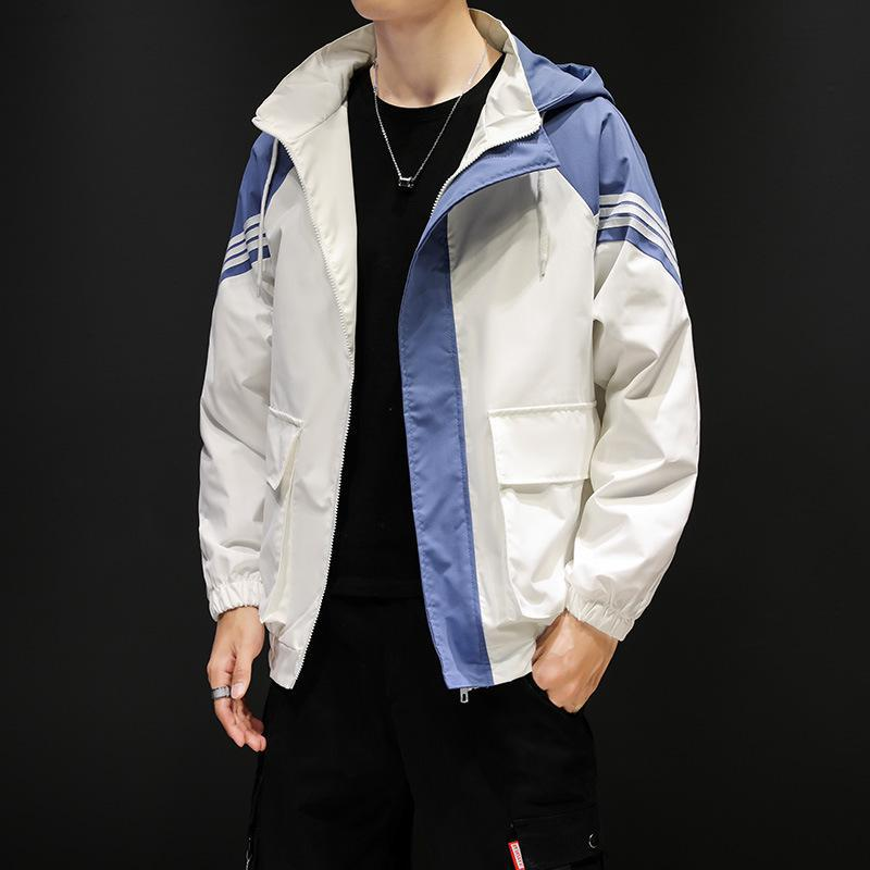 Men Hooded Jacket Loose Color Coat Hip Hop Harajuku Mens Jacket Mens Fashion Mens Gothic Jackets Plus Sized