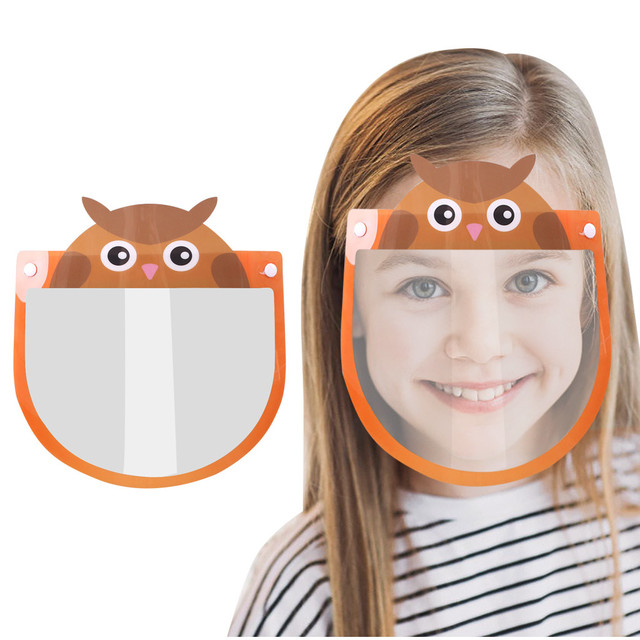 Kids Child Transparent Face Shields Cartoon Anti-fog Guard Anti-saliva Safety Protection Face Mask Mascarillas Jy6 4
