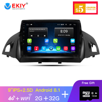 EKIY 9'' 2.5D Car Multimedia Player Not 2 Din Android Car Radio For Kuga 2013 2017 GPS Navigation Stereo Support 4G/WIFi