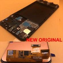 Nowy OEM wyświetlacz LCD z ramką do Samsung galaxy A50 2019 A505 DS A505F A505FD A505A LCD ekran dotykowy Digitizer zgromadzenie