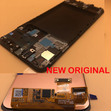 Yeni OEM LCD ekran için çerçeve ile Samsung galaxy A50 2019 A505 DS A505F A505FD A505A LCD dokunmatik ekran Digitizer montaj