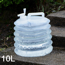 Outdoor telescopic bucket 10L portable folding water bag camping mountaineering car