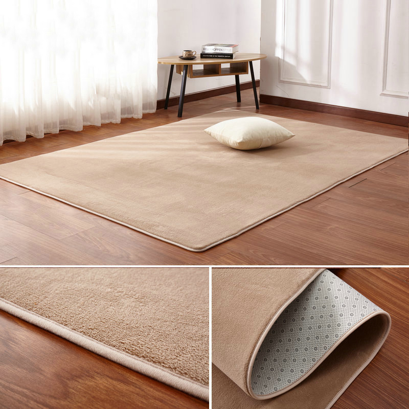 160x200cm Short-haired Coral Velvet Carpet Living Room Floor Mat Coffee Table Mat Bedroom Blanket Bed Rug Floor Mat Door Cushion