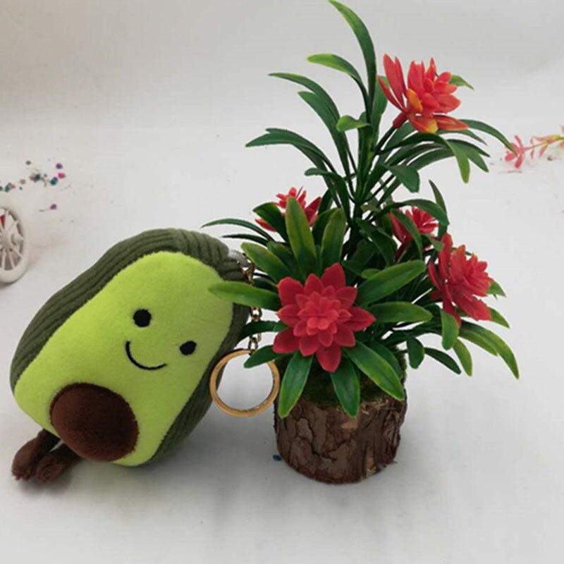 Cute 10/15/25cm Avocado Plush Toy Keychain Bag Clothes Pendant Stuffed Doll For Children