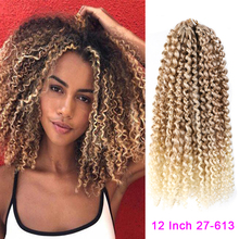 Wholesale Ombre 12 #8243 Marlybob Braid Hair Crochet Braids 3PCS Pack Afro Kinky Curly Hair 24Roots Synthetic Marley Hair Extensions cheap MODERN QUEEN High Temperature Fiber CN(Origin) Marley Braids 1strands pack Ombre color 12 inch 40 + - 5 grams each High Temperature Fiber Synthetic Hair