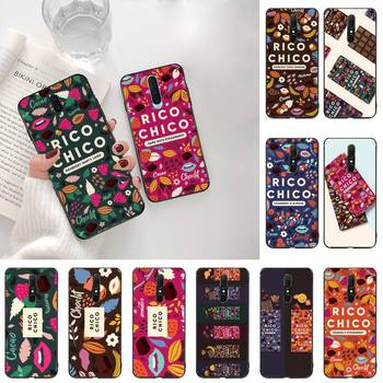 Sweet chocolate Rico Chico Black Soft Shell Phone Case Capa For Oppo A5 A9 2020 Reno2 z Renoace 3pro Realme5Pro image