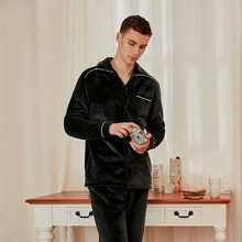 Новинка Зима 2020 Пижамный костюм фланелевые пижамы мужские