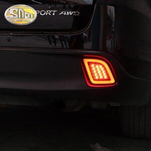Image 5 - 2 adet Toyota Highlander 2015 için 2016 2017 2018 çok fonksiyonlu LED arka tampon ışık sis lambası fren lambası dönüş sinyal ışığı