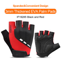 IF19285-Red-INBIKE Summer Men Women Half Finger Shockproof Cycling Gloves