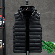 Kurtka męska bez rękawów kamizelka zimowa moda męska kamizelka męska ocieplana bawełną ocieplana kamizelka kamizelka męska kurtki odzież tanie tanio Crocodile CN (pochodzenie) COTTON Poliester zipper Vest Men s jacket men vests men clothing NONE Stałe REGULAR Szczupła