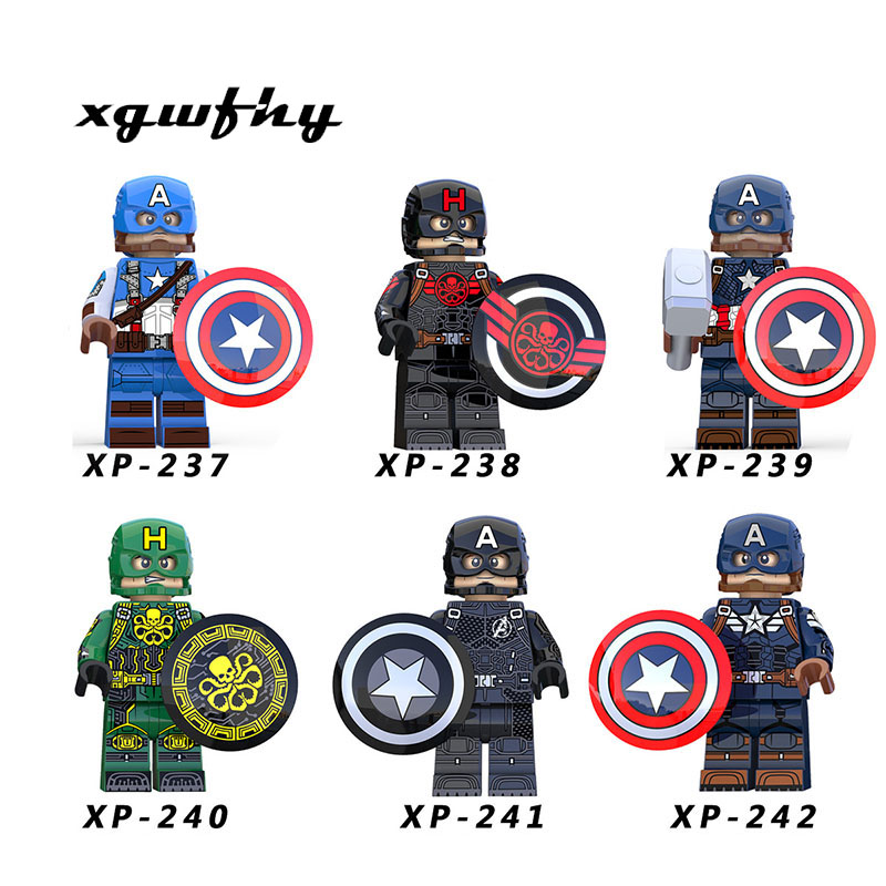KT1031 Captain America Steve Rogers Super Heroes Hydra Agent Avengers Model Building Blocks Children Toys Free Shipping JM327