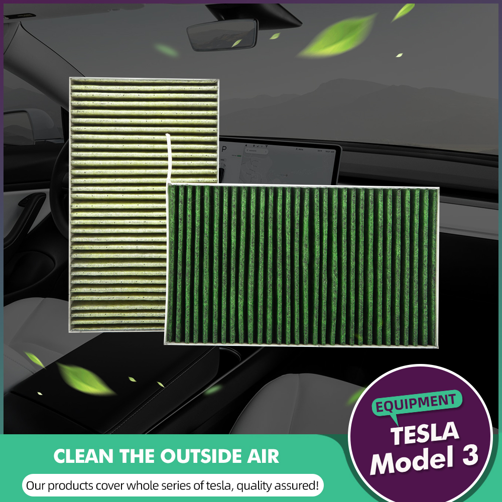Replacement Activated Cabin Air Filter For Tesla Model 3 Model X Model S
