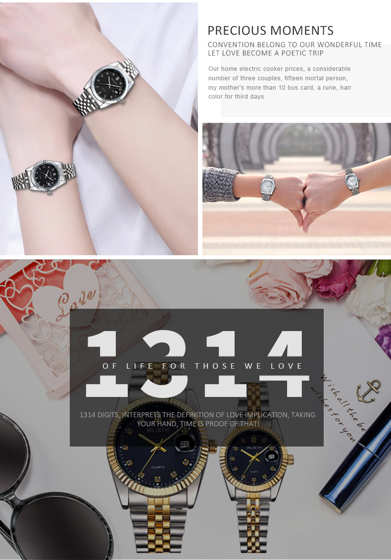 luxo relógio de ouro das mulheres dos