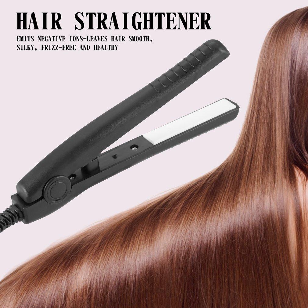 US Plug Mini Electric Splint Flat Iron Ceramic Hair Curler & Straightener Hair Perming Hair Styling Appliance Hair Crimper