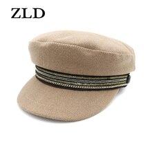 ZLD Flat top cap female spring summer hat British beret ladies winter fashion wo