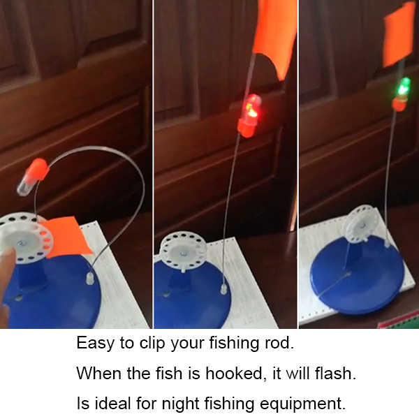 Bite alarma Flash luz LED pesca indicador buscador de peces suministros aparejos nuevo