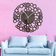 Acrylic decorative living room mirror mute Creative wall clock Geometric circle Self-adhesive sticker