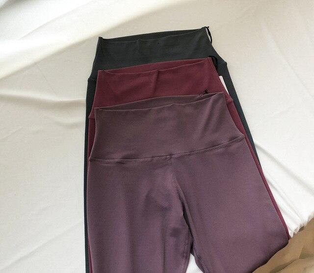 LULU Original Factory Capri Yoga Pants Skin Bare Sense High-waisted Moon-Yoga Pants Peach Hip Buttock Lifting Sports 1