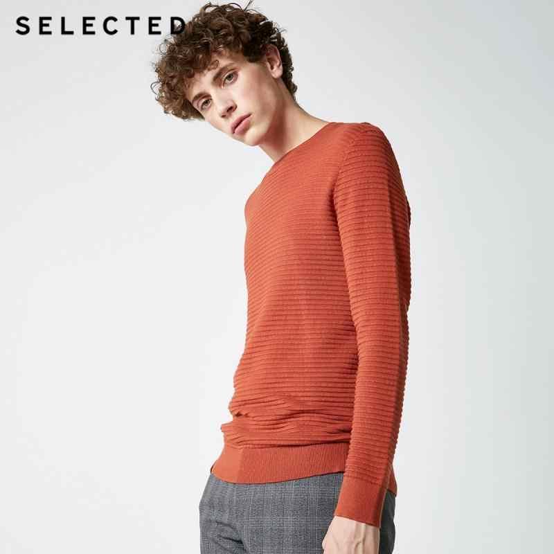 Wybrany nowy męski sweter z okrągłym dekoltem dzianina bawełniana Business swobodny sweter odzież S | 418324531