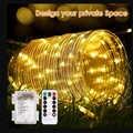 Fee Lichter Urlaub LED String Lichter Weihnachten LightsAABatteryWaterproof Seil Rohr LED Girlande Dekoration Party Hochzeit