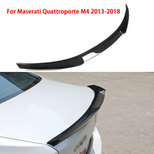 Carbon Fiber spoiler For Maserati Quattroporte M4 2013-2018 Car Rear Spoiler Wing Car Styling Auto Spoiler Tail Modified Parts car styling carbon fiber auto car duckbill spoiler for bmw e60 2004 2010