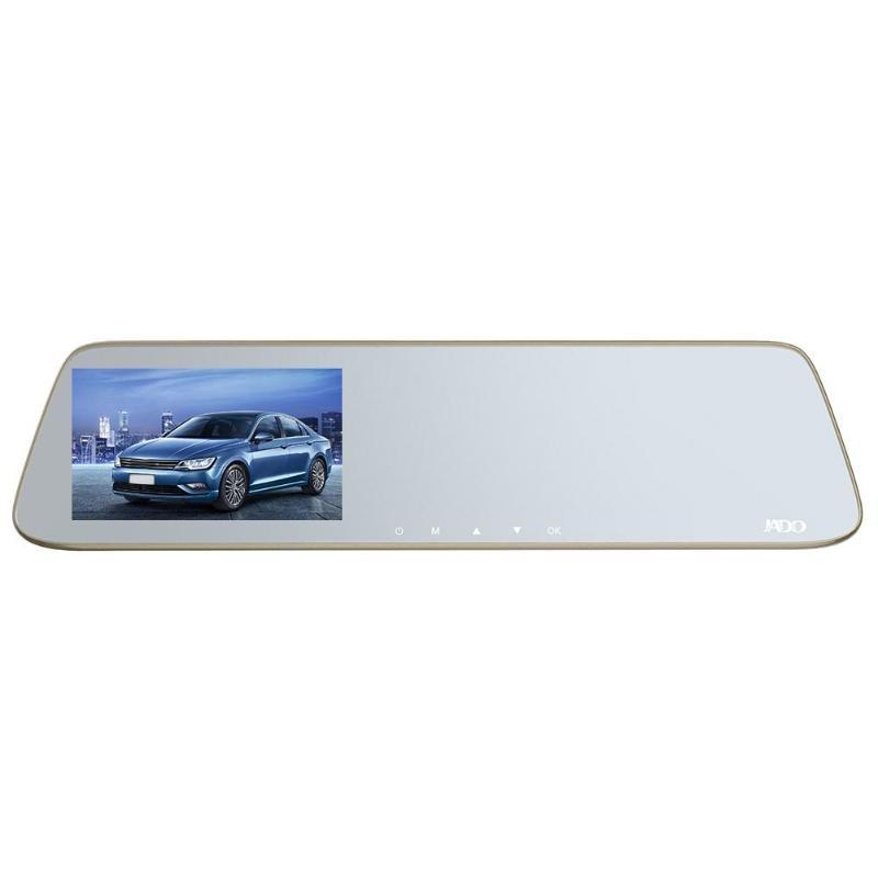 JADO Mirror Car-Camera Dashcam DVR Recorder LDWS Touch-Screen Night-Vision 1296p HD 5inch