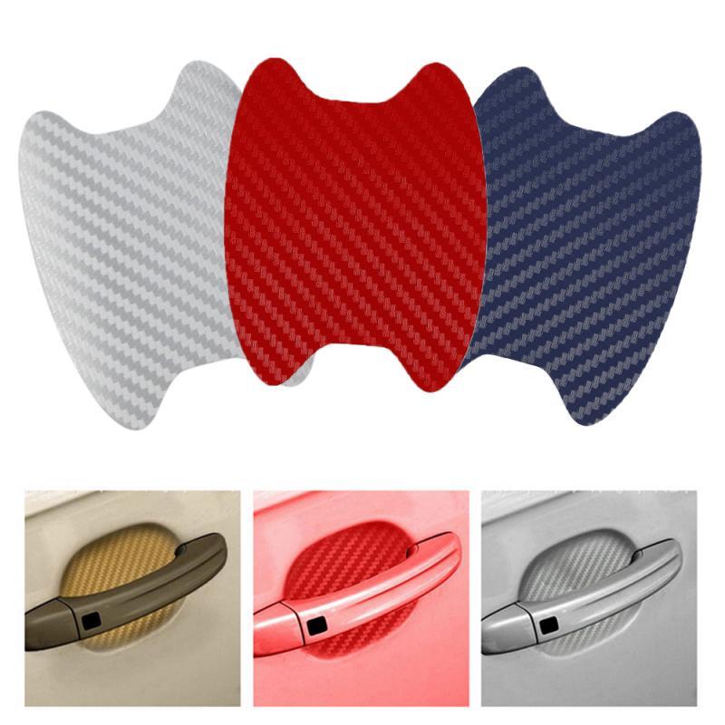 4Pcs/Set Car Sticker 3D Carbon Fiber Car Door Sticker Scratches Resistant Cover Car Door Protector Auto Products Car Accessories