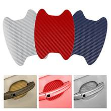 4Pcs/Set Car Sticker 3D Carbon Fiber Car Door Sticker Scratches Resistant Cover Car Door Protector Auto Products Car Accessories(China)