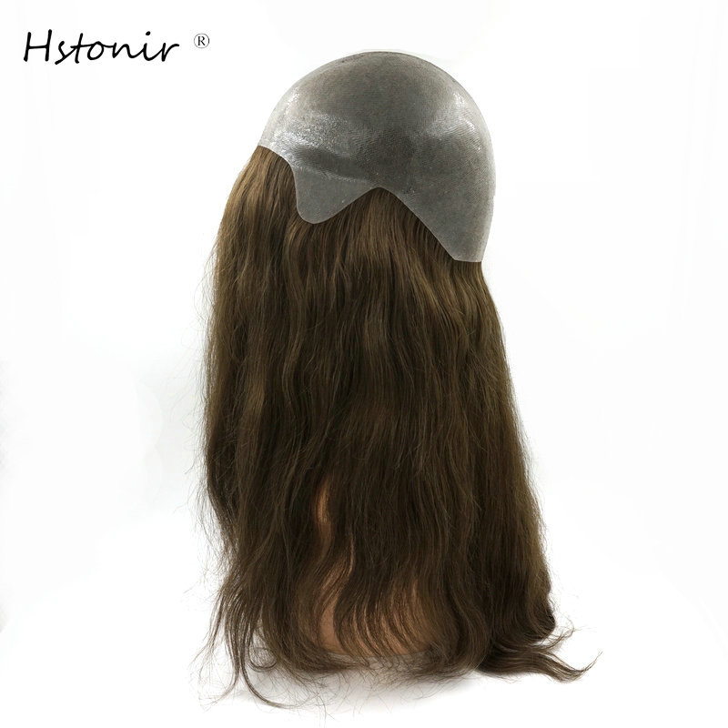 Hstonir Thin Skin Human Remy Hair Wig Stock G003
