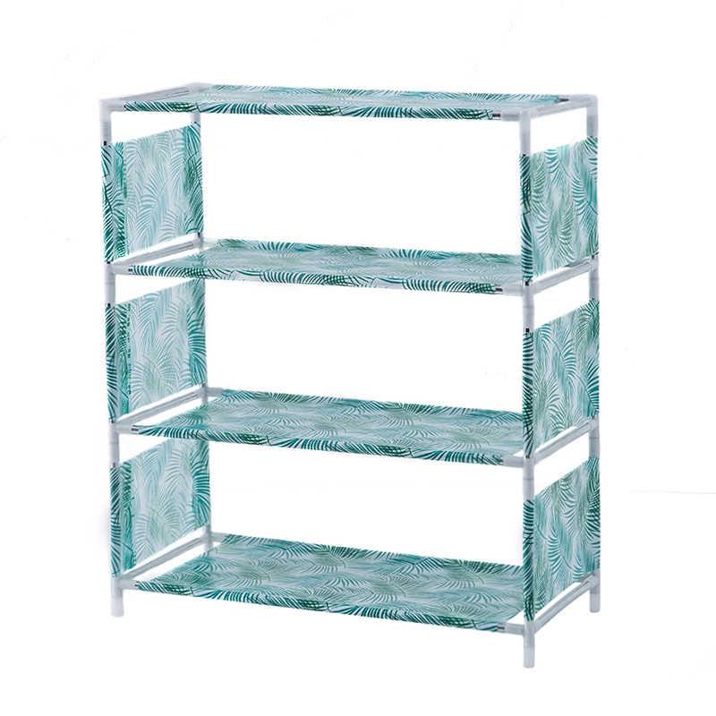 3-4 schichten Nicht-woven Schuh Rack Wohnzimmer Stoff Staubdicht Schrank Veranstalter Halter DIY Faltbare Stand Lagerung schuhe Regal