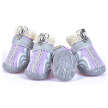 Dog shoes design winter new products in stock pet supplies antifreeze warm pet shoes