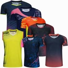 Спортивная брендовая быстросохнущая дышащая рубашка для бадминтона, женские и мужские футболки для тренировок по настольному теннису и во...