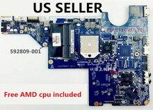 592809-001 Moederbord Voor Hp CQ42 G42, CQ62 G62 Amd Laptop, Ons Loc Een