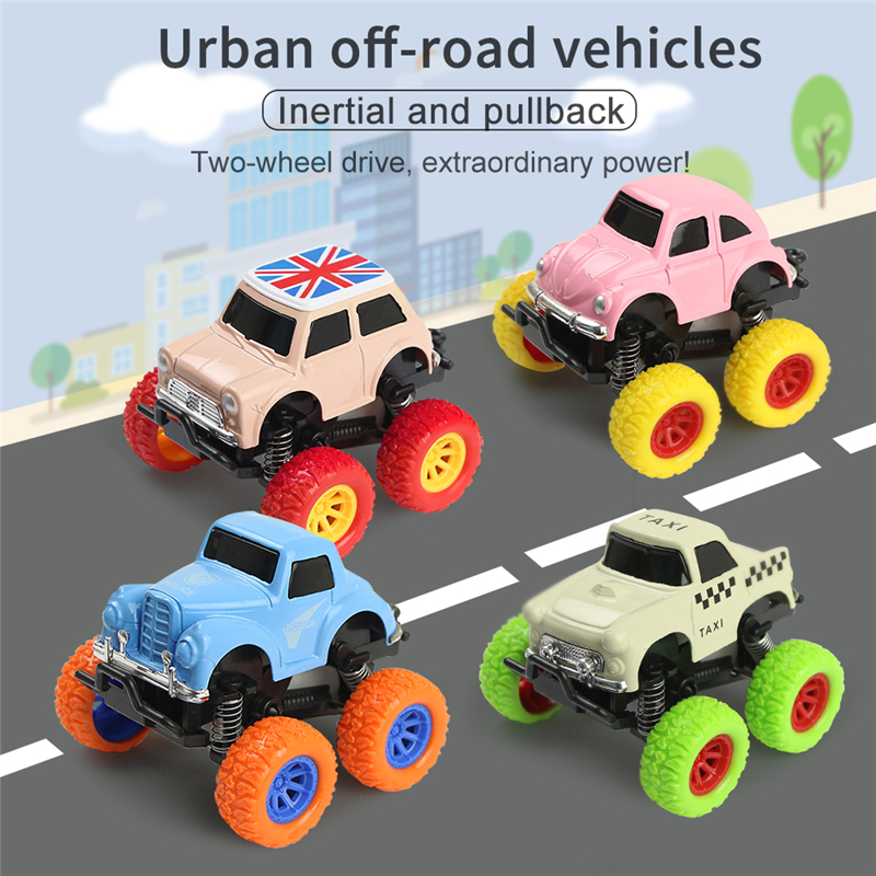 Kids Toys Car Alloy Model Truck Mini Diecast Cars Toy for Boys 3 Years Small Vehicles Miniature Buggy Police Taxi Birthday Gifts image
