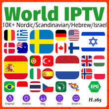 World IPTV Berlangganan 10000 + Live IPTV Nordic Swedia Nederlands Spanyol Norwegia Finlandia IPTV Eropa M3U IPTV Android Smart TV(China)