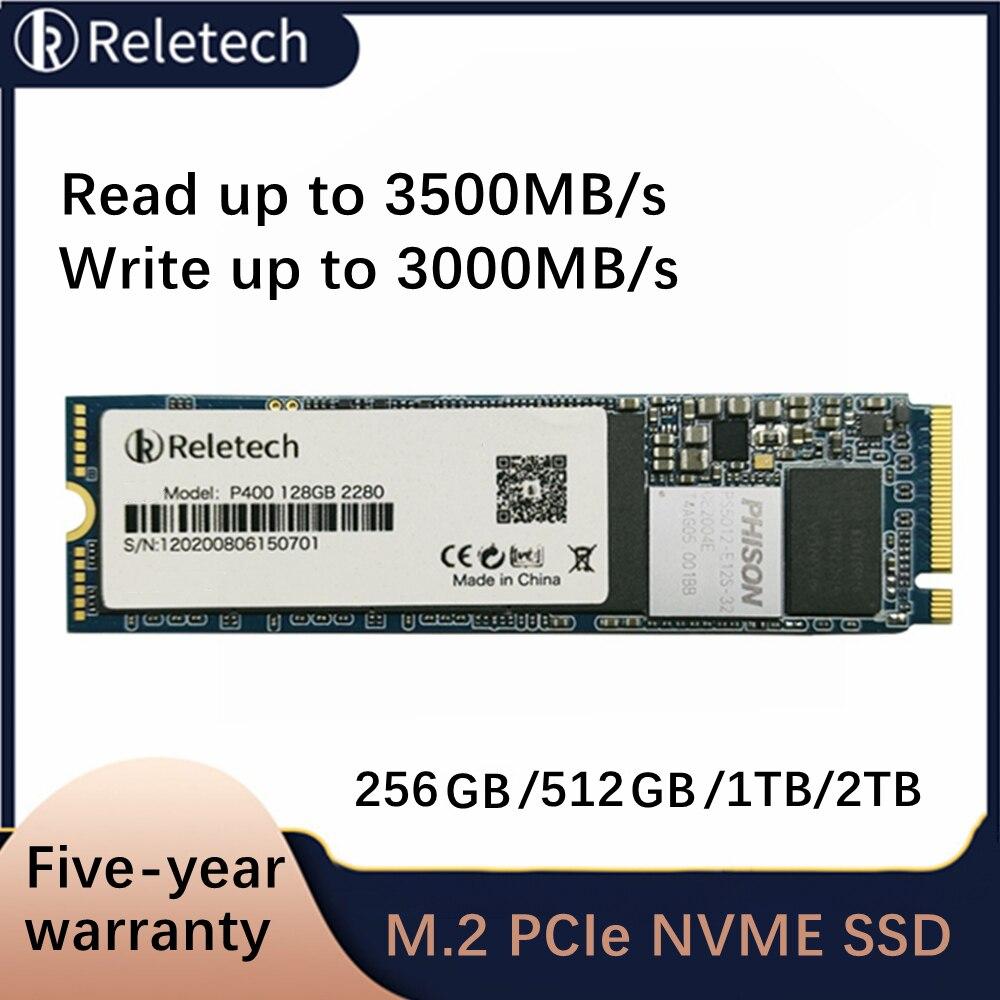 Reletech P400 PCIe ssd m2 nvme 256 512 ГБ 1 ТБ 2 ТБ M.2 твердотельный накопитель независимый кэш внутренний жесткий диск для ноутбука, настольного компьютера