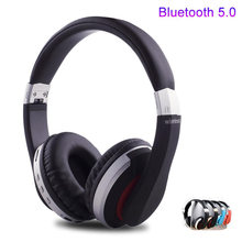 MH7 Wireless Headphones Bluetooth Headset Foldable Stereo Gaming Earphones With Microphone Support TF Card For Mobile Phone IPad(China)